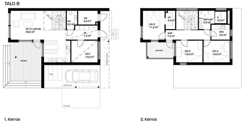 Friisinniityntie 25 myyntipohja talo B.