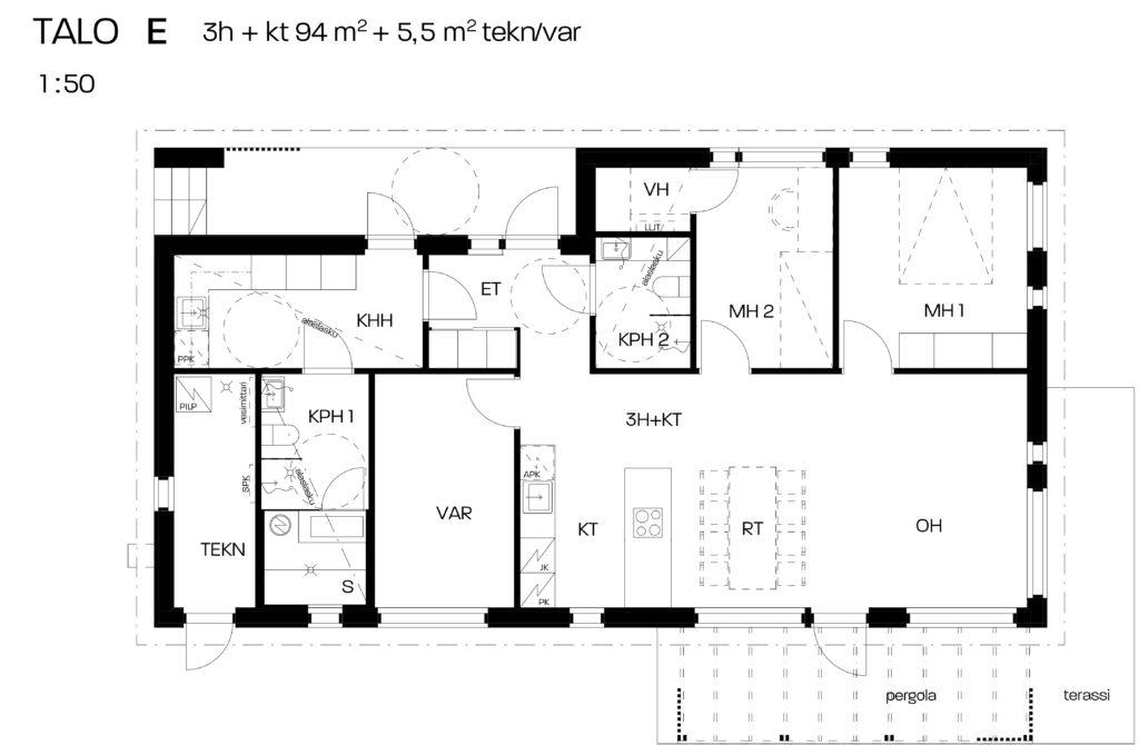 As. Oy Vantaan Punagraniitin myyntikuva talo E.