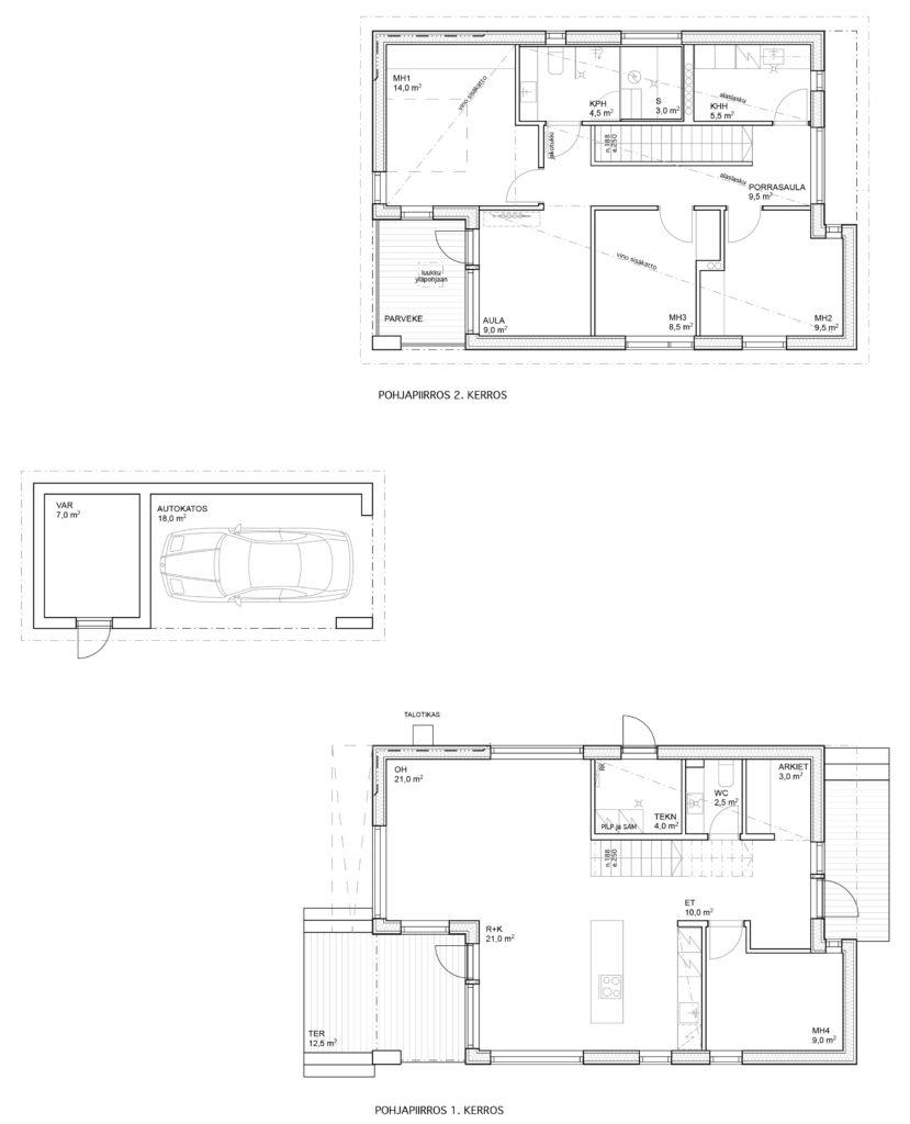 Myyntipohja Pensastie 6B talo A.