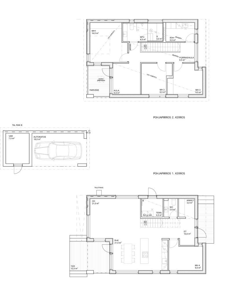 Myyntipohja Pensastie 6B talo B..